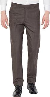 American-Elm Men Redish Brown Cotton Formal Trouser