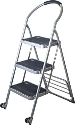 Stalwart 770964AGW Step Ladder, Silver