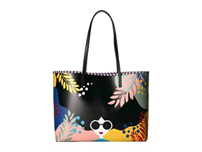 Alice + Olivia Missy Printed Large Perfect Tote (Fantasy Stace Face) Tote Handbags