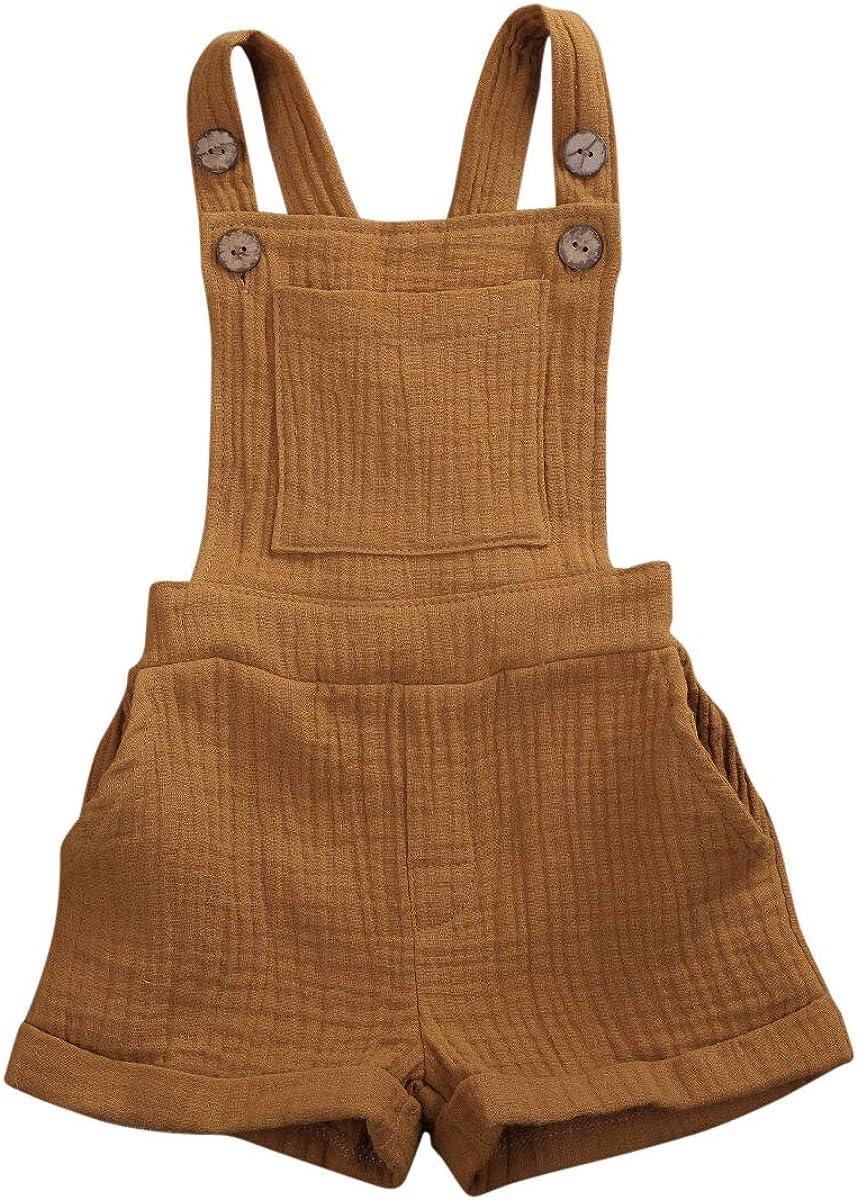 Kuriozud Toddler Baby Tulsa Rapid rise Mall Boy Girl Romper Jum Sleeveless Solid Color
