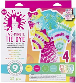 Tulip One-Step Tie-Dye Kit Fast & Easy Fabric Designs 2 Minute Tie Dye, 4 Vibrant Colors, Tropical Fruit Punch
