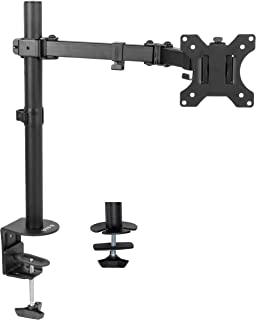 """VIVO Full Motion Single VESA Computer Monitor Desk Mount Stand with Articulating Double Center Arm Joint 