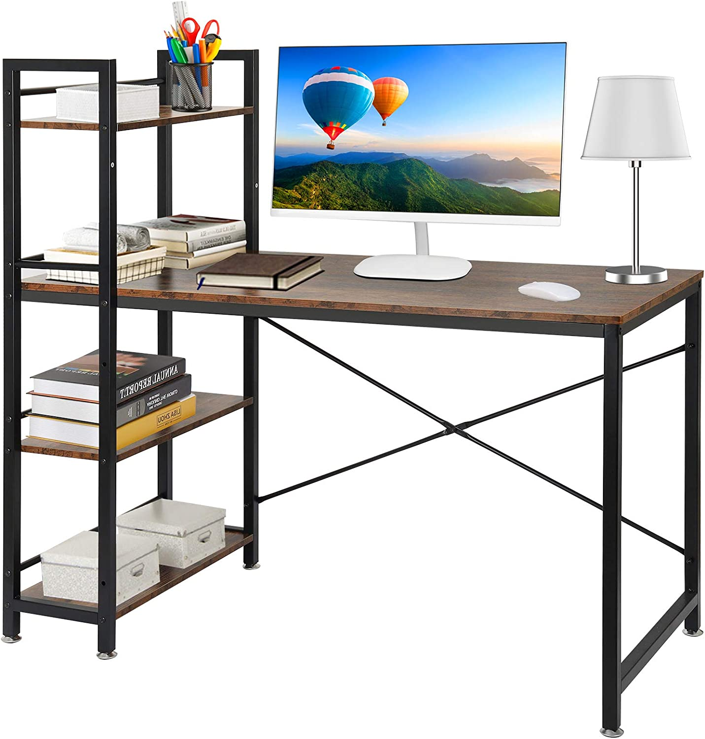 Computer Desk with Storage Shelves Al sold out. Writing Table Study Free shipping / New Home for