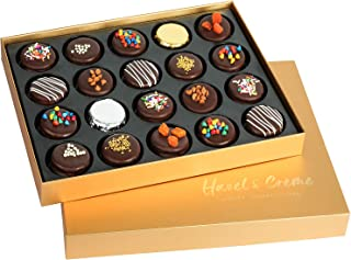 Hazel & Creme Gold Cookie Gift Box - Chocolate Box 20 - Gourmet Food Gift - Mothers Day, Birthdays, Anniversary, Corporate, Holiday Gifting