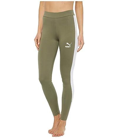 PUMA Classics Logo T7 Leggings (Deep Lichen Green) Women