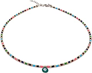 Alwan New Trend Evil Eye Necklace - EE33558MBLEYS