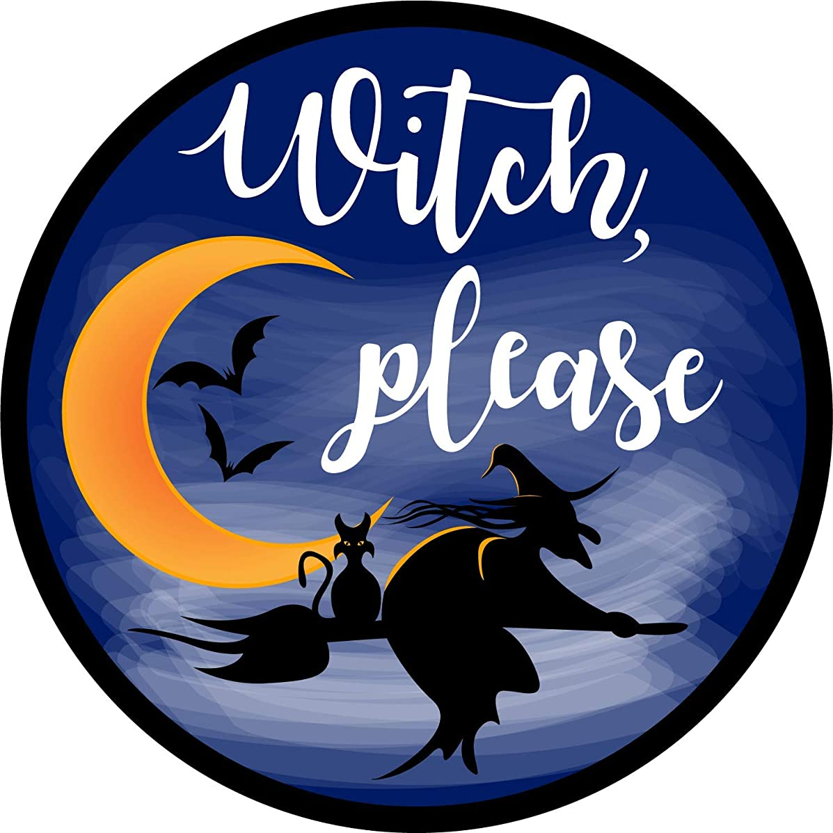 Witch Please Halloween Car Magnet Decoration Auto Decal, 5 3/4 Inches
