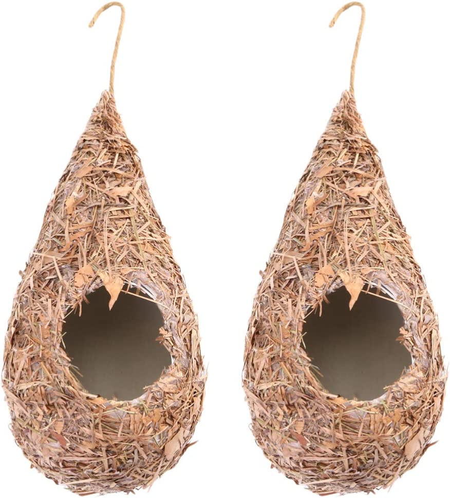 TEHAUX 2pcs Sleeping Nest Surprise price Bird Simul House- Cage Straw 2021 autumn and winter new