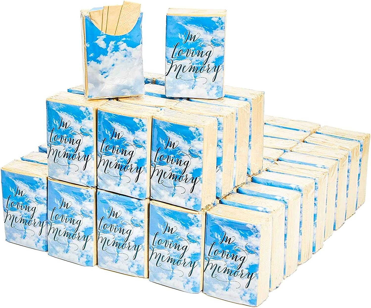 Sparkle and Bash in Loving Memory New 2021 new mail order Funeral Facial 60 Pac Tissues