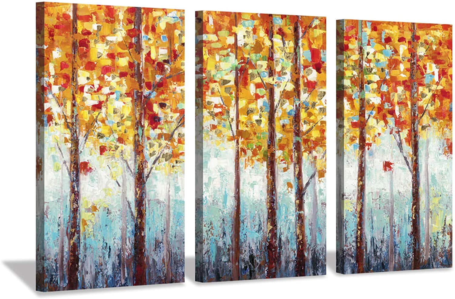 Hardy Gallery Abstract Landscape Arts Woods Pictures  Fall Trees Artwork on Canvas for Homes