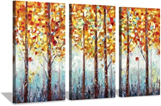 Hardy Gallery Abstract Landscape Arts Woods Pictures: Fall Trees Artwork on Canvas for Homes