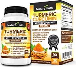 Turmeric Curcumin with Bioperine. 1500mg. Highest Potency. 95% Curcuminoids. Quickest Absorption, USA Made, Non-GMO