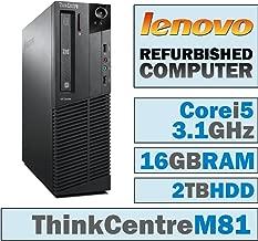 Lenovo ThinkCentre M81 SFF/Core i5-2400 Quad @ 3.1 GHz/16GB DDR3/2TB HDD/DVD-RW/WINDOWS 10 PRO 64 BIT