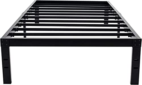 HOMUS 7 Inch High Heavy Duty Steel Platform Bed Frame/Base, Fit for Mattress and Box Spring (Twin XL)