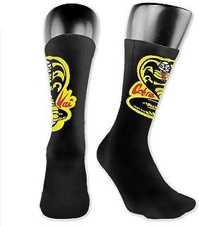 Lsjuee, Cobra-Kai-Denim-Dad Calcetines cómodos Calcetines cálidos Calcetines deportivos cómodos con zapatillas