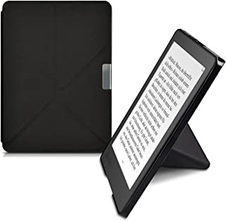 kwmobile Origami Case for Kobo Aura Edition 2 - Ultra Slim Fit Premium PU Leather Cover with Stand - Black