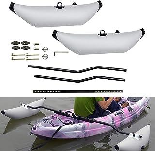 2x White PVC Kayak Canoe Fishing Outrigger Stabilizer Buoy /& Ama Kit Water Sport