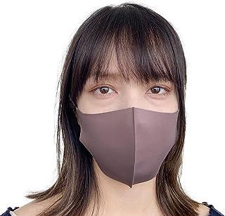 マスク 冷感 5枚セット 夏 繰り返し 洗える マスク 涼しく 快適 クールマスク ソフトフィット 手洗い 大人用 洗えるマスク 男女兼用 02 ベージュ