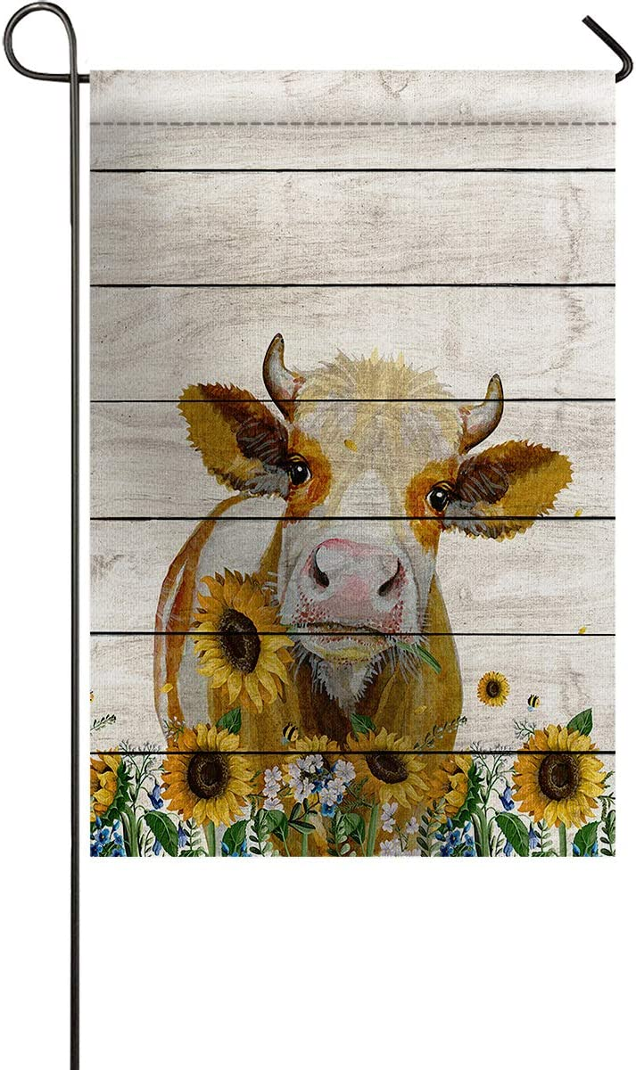 Ocean Party Limited Special Price Popular shop is the lowest price challenge Small Garden Flag with for Sunflower Vin Outside-Cow