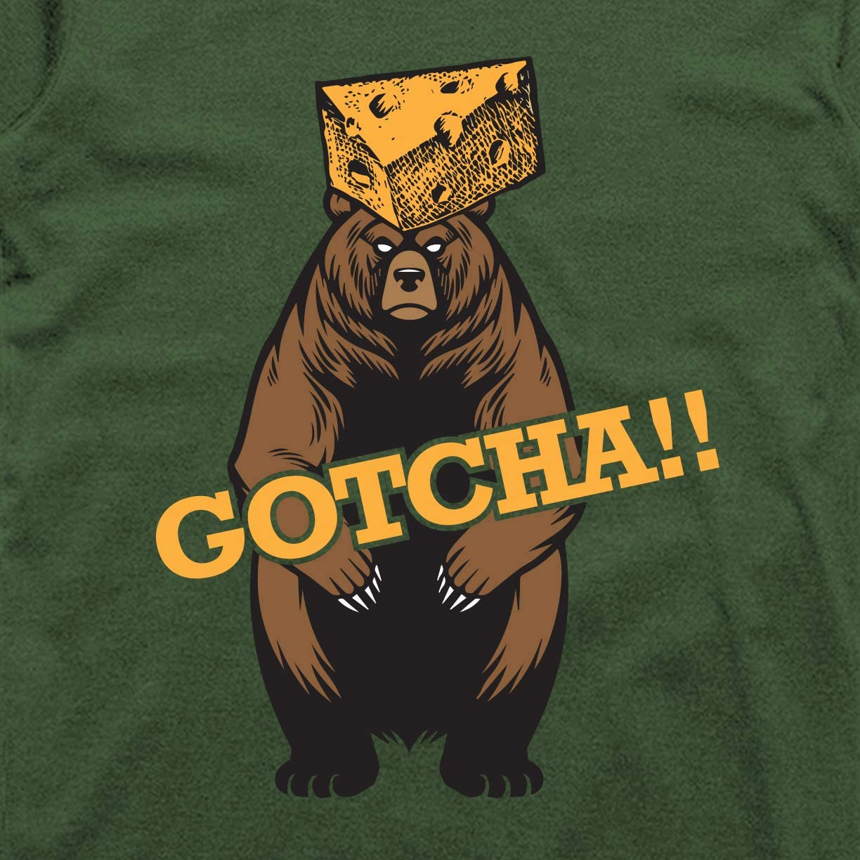 Gotcha! Cheese Head Bear Classic T-Shirt INKpressionists Green Bay Football Fans
