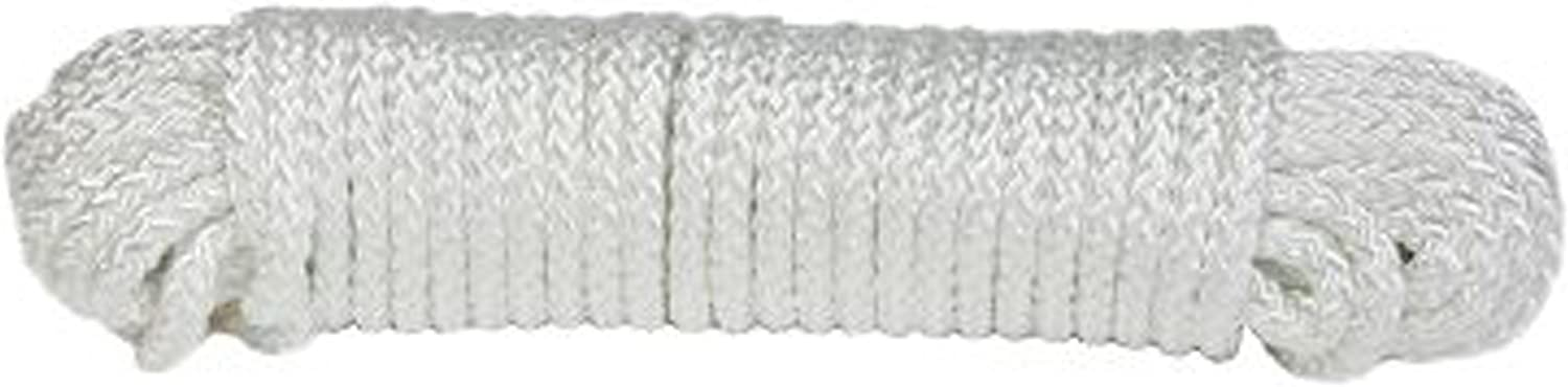 Koch 5230825 Max 76% OFF 1 4 by 50-Feet Diamond Braid Nylon Manufacturer direct delivery Rope White