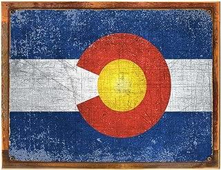 colorado flag reclaimed wood