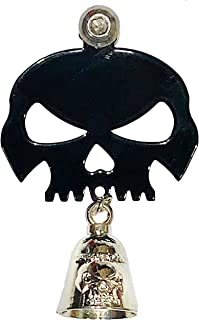 Kustom Cycle Parts Universal Gloss Black Skull Bell Hanger With Bell - Bolt and Ring Included. Fits all Harley Davidson Motorcycles & More! Proudly MADE IN THE USA! (Chrome)