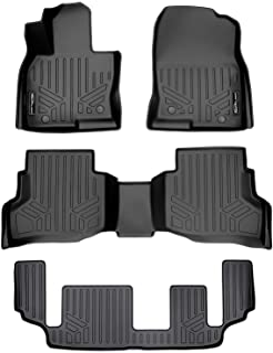 MAXLINER Floor Mats 3 Row Liner Set Black for 2016-2021 Mazda CX-9