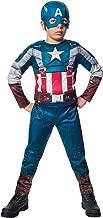 Rubies Marvel Comics Collection: Captain America: The Winter Soldier Fiber-Filled Retro Suit Captain America Costume, Child Large