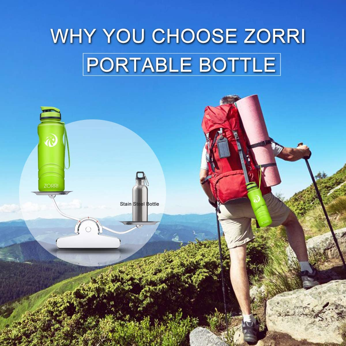Cycling BPA Free Lightweight Reusable Gym Portable Large Drink Bottles With Filter for Kids Hiking Flip Top Lid Leak Proof Running Best Sports Water Bottle 1L// 1.2 Litre// 600// 800ml Camping