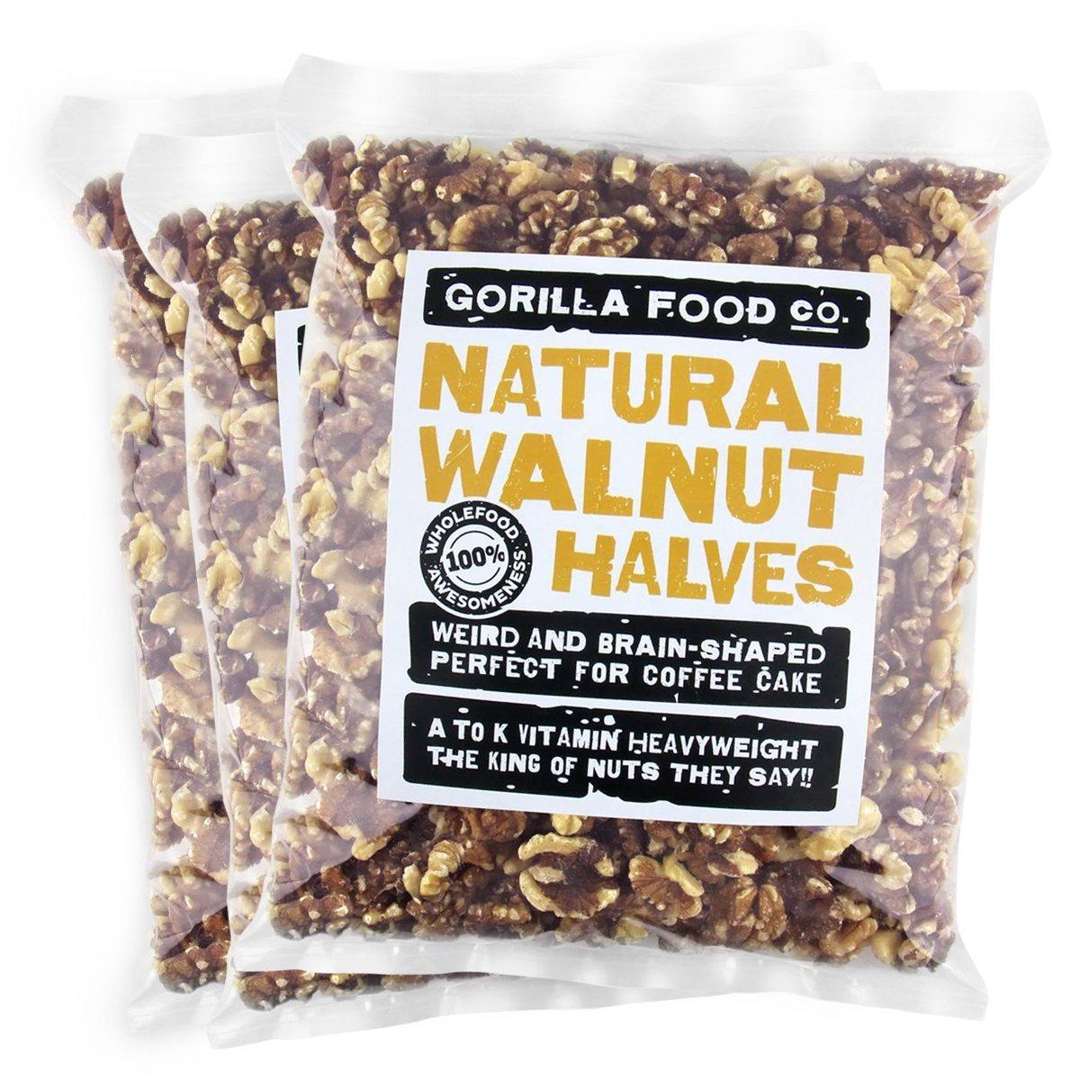 Gorilla Food Co. Light Walnut - Only Shelled Raw Halves Ranking TOP5 High order