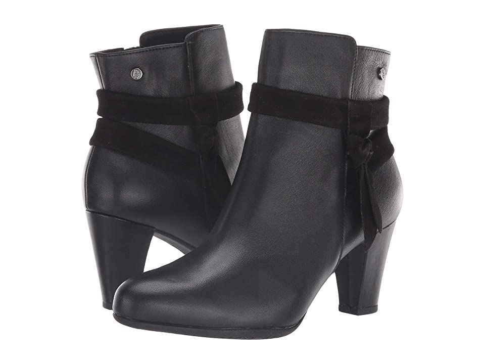 Hush Puppies Meaghan Bow Boot (Black Leather) Women