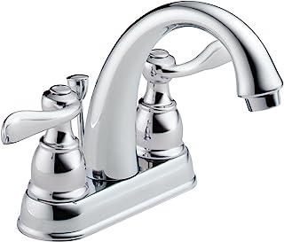 Delta Faucet Windemere Centerset Bathroom Faucet Chrome, Bathroom Sink Faucet, Metal Drain Assembly, Chrome B2596LF
