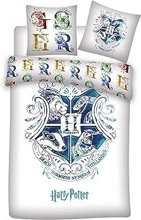 Familando Vändbart sängklädesset Harry Potter 135 x 200 cm 80 x 80 cm – 100 % bomull · Hogwarts · tysk storlek · sommarsän...