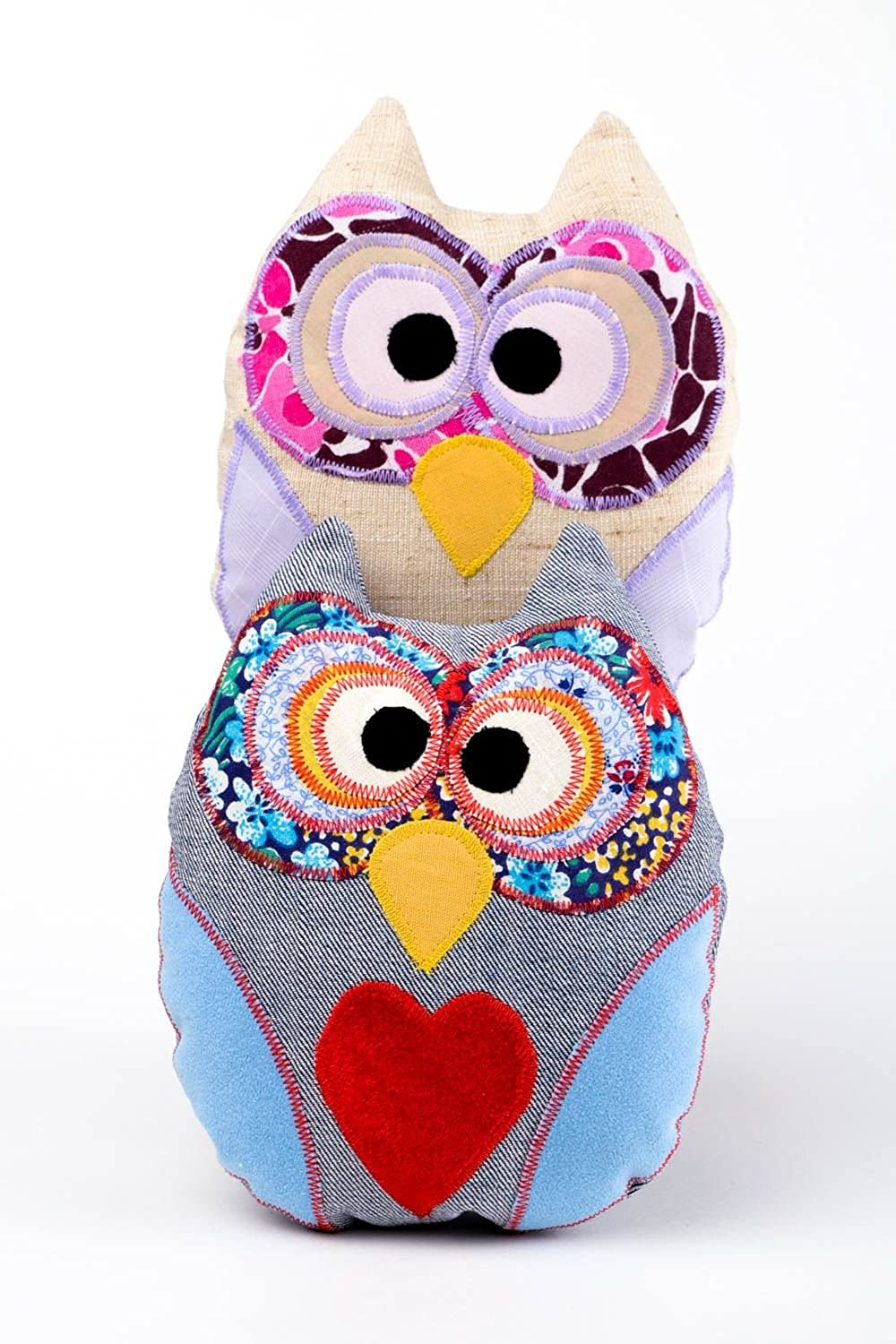 Handmade Designer Owl Toys 2 Cute Soft Toys For Kids Stylish Textile Toys