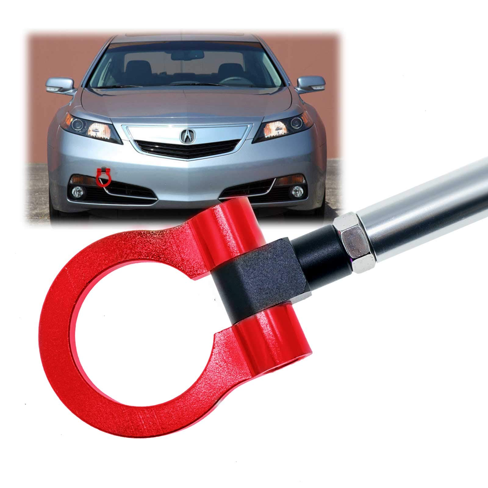 DEWHEL T2 Racing JDM Front//Rear Folding Screw On Towing Tow Hook Black for Honda S2000 AP1 AP2 FIT Acura TL
