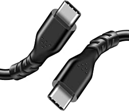 Fasgear USB C to USB C Cable (1 Pack, 1ft, Black) Fast Charge Type C to Type C 2.0 Cable High-Speed Data Transfer Sync USB C-C Cable for Galaxy S10 S9, Huawei P20, Nexus 6P 5X, Chromebook, Matebook
