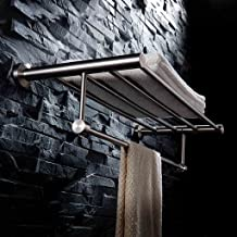 BXGJ handdoekhouder badkamer handdoekhouder 304 geborsteld roestvrij staal handdoekhouder badkamer geperforeerde tandstang...
