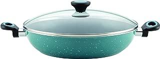 Paula Deen 16982 Riverbend Nonstick Chicken Frying Pan / Fry Pan / Skillet with Side Handles - 12.5 Inch, Blue