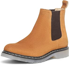 SaintG Womens Tan Leather Ankle Boots