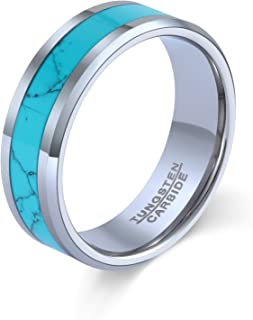 turquoise inlay band rings