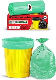 Shalimar Premium OXO - Biodegradable Garbage Bags (Medium) Size 48 cm x 56 cm 4 Rolls (120 Bags) (Dustbin Bag/Trash Bag) (...