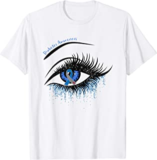 Type 1 Diabetes Ribbon Eye Diebetes Awareness Gifts T-Shirt