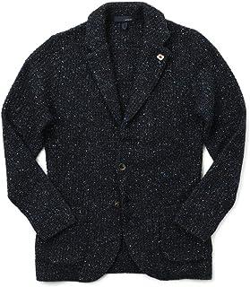 LARDINI ラルディーニ ニットジャケット シングル ウール シルク アルパカ JSLJM70 IM55010【お直し不要】