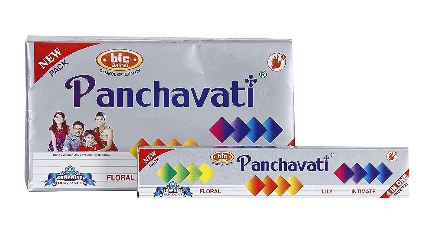 探す一見煙BIC Panchavati 4 in 1 Incense Sticks/Agarbatti (Pack of 2 Dozens)