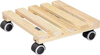WAGNER Plantentrolley COUNTRY 28 x 28 x 8 cm I Bloementrolley voor binnen I Antislip plank I Van FSC®-gecertificeerd massi...