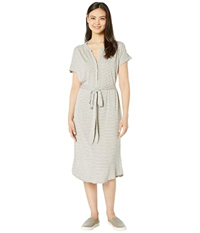 Lucky Brand Knit Henley Dress (Grey Stripe) Women