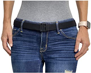 Adjustable elastic belt - Belts for Women, Non-Slip Waist Belt - No Show Flat Buckle Womens Belt (available in plus size )