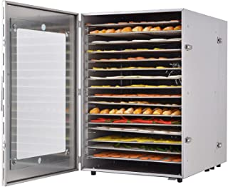Food Fruit Dehydrator Machine, 16 Tray Food Dryer Dehydrator, Adjustable Temperature, 2400 W, for Room Kitchen
