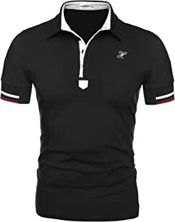 Mens Fashion Polo Shirt Short Sleeve Polo Tee Casual Slim Fit Basic Golf Tee Sport Polo T-Shirts